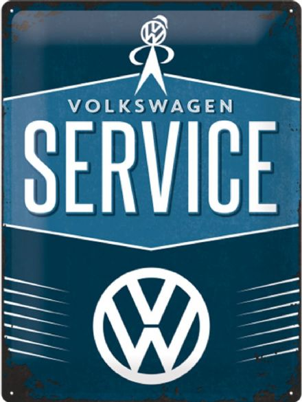 Volkswagen Service - 3D  Metal Wall Sign